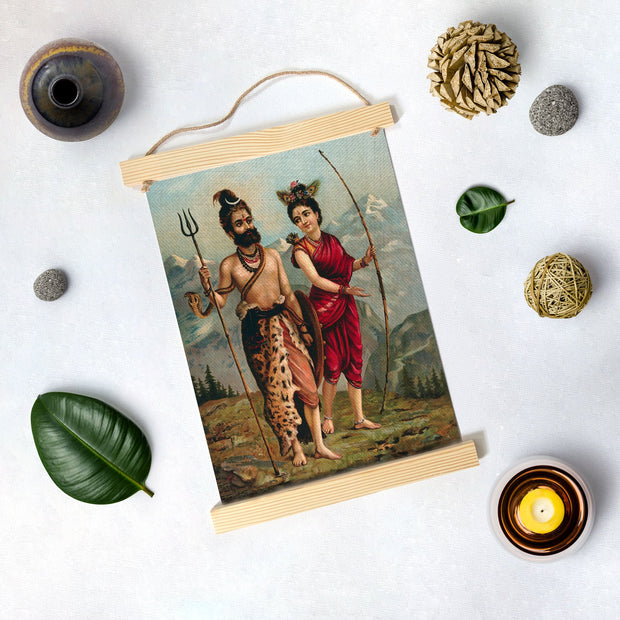 Painting By Raja Ravi Varma Hanging Canvas - Meri Deewar