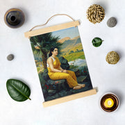 Oil Painting By Raja Ravi Varma Hanging Canvas