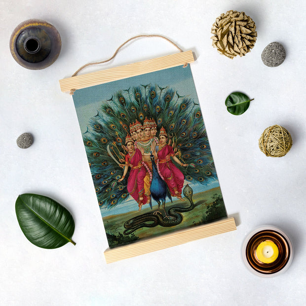 Murugan, Painting By Raja Ravi Varma Hanging Canvas