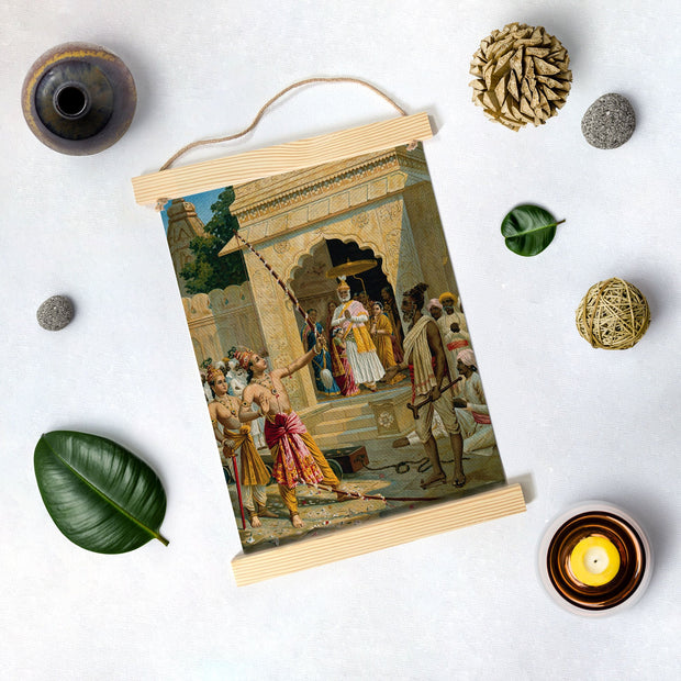 Sita Swayamvar, Painting By Raja Ravi Varma Hanging Canvas