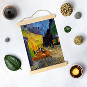 Cafe Terrace at Night by Van Gogh Hanging Canvas