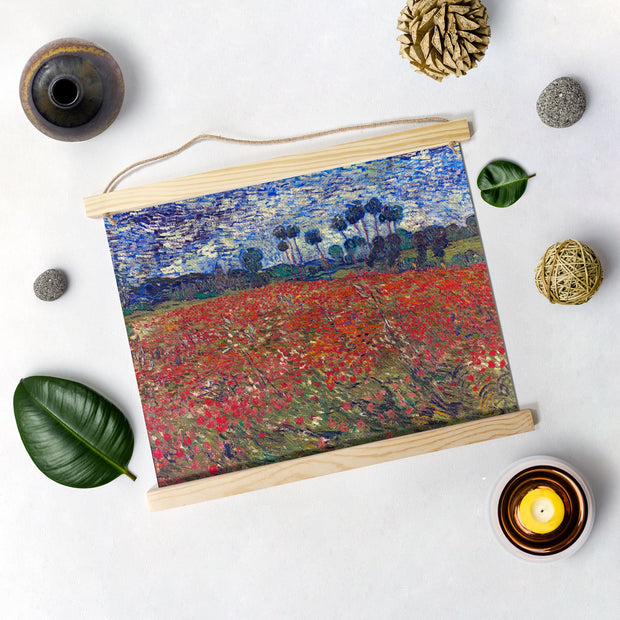 Poppy Field By Van Gogh Hanging Canvas