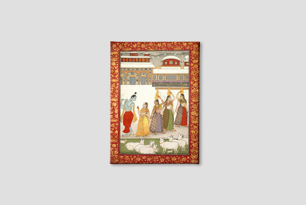 Gujari Ragini (Krishna with Gopis Playing the Flute) Canvas