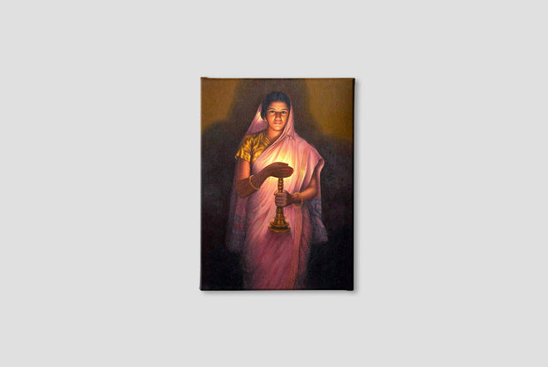 Woman With the Lamp Canvas