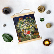 Bouquet Of Flowers In A Vase By Van Gogh Hanging Canvas