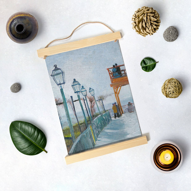 Terrace And Observation Deck By Van Gogh Hanging Canvas