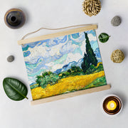 Wheat Field With Cypresses Painting By Van Gogh Hanging Canvas - Meri Deewar