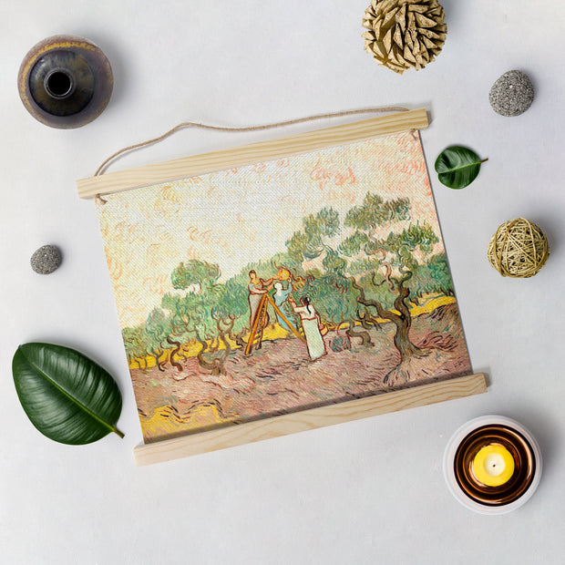 Women Picking Olives By Van Gogh Hanging Canvas