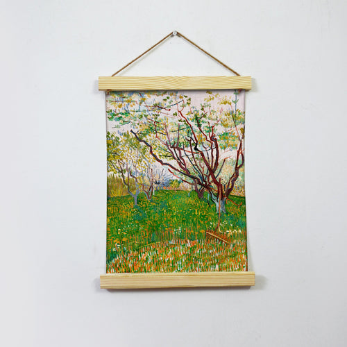 The Flowering Orchard By Van Gogh Hanging Canvas