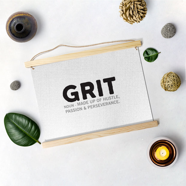 Grit Poster Hanging Canvas