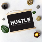 Hustle Poster Hanging Canvas
