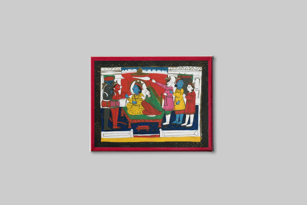 Rama-and-Sita-enthroned-with-Hanuman,-Laksmana-and-others _Canvas