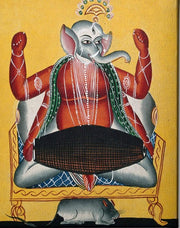 Ganesh-playing-the-dhola-(double-drum) Canvas