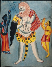 Shiva-carries-Parvati-on-his-back,-flanked-two-other-deities Canvas
