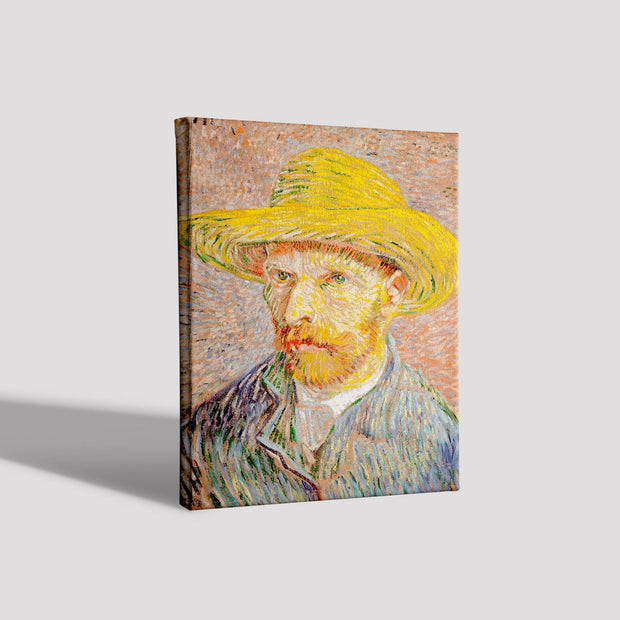 Self-Portrait with a Straw Hat (1887) By Van Gogh