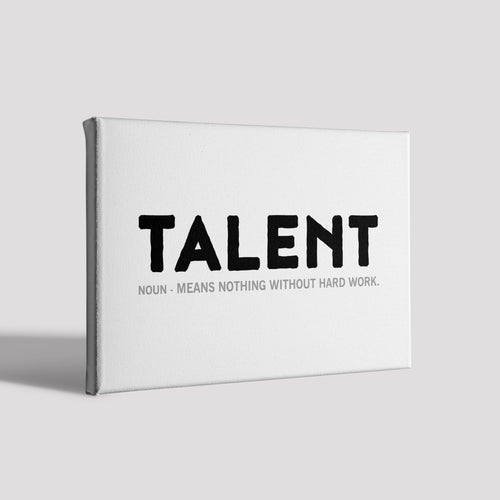 Talent_Poster Canvas