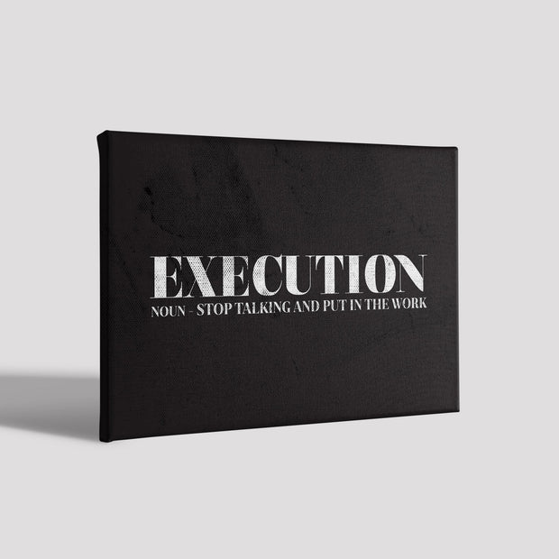Execution Poster Canvas