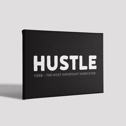 Hustle_Poster Canvas
