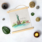 Statue of liberty Artwork Hanging Canvas