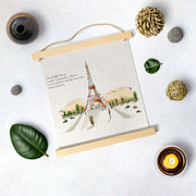 Eiffel Tower Artwork Hanging Canvas