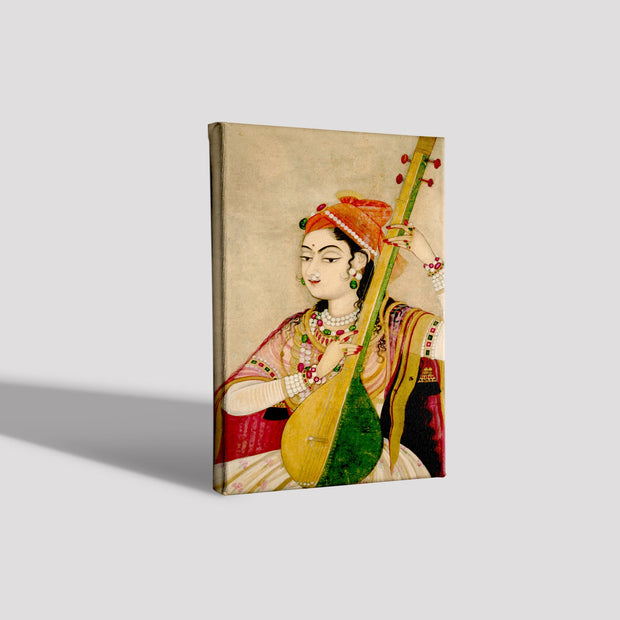 Lady Playing The Tanpura Canvas