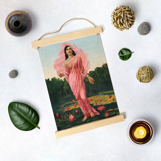 Padmini, Painting By Raja Ravi Varma Hanging Canvas