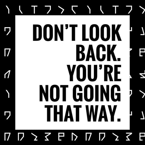 Don't look back Poster