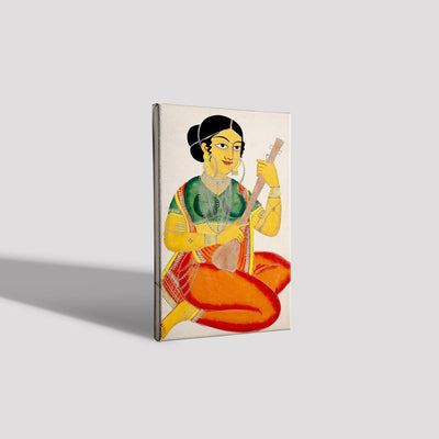 A-seated-courtesan-playing-a-sitar Canvas