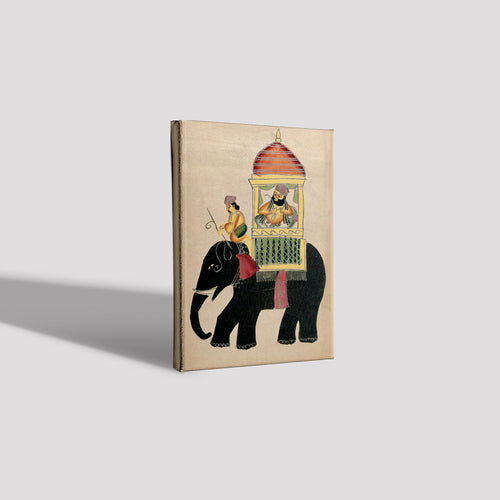 Raja-on-a-black-elephant Canvas