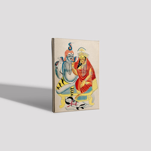 Shiva-and-Parvati-sitting-on-their-throne-with-Nandi-the-bull  Canvas