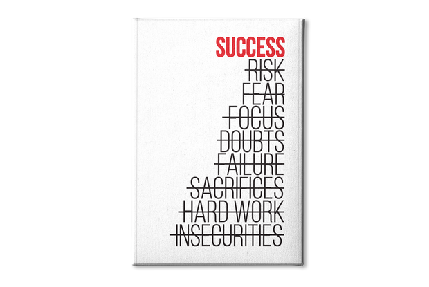 Success Poster Canvas
