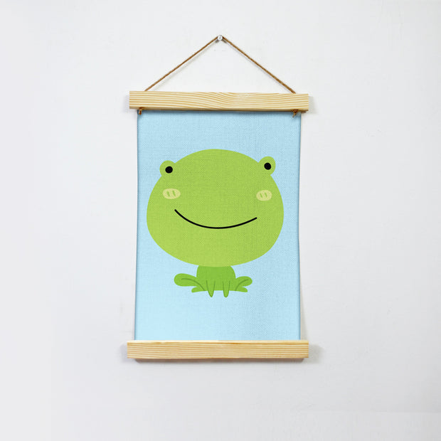Frog Illustration Hanging Canvas