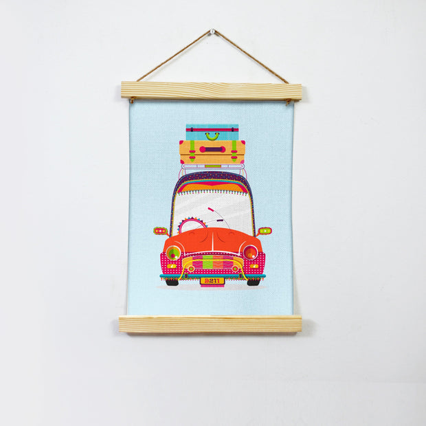 Ready To Hit The Road Hanging Canvas Painting - Meri Deewar