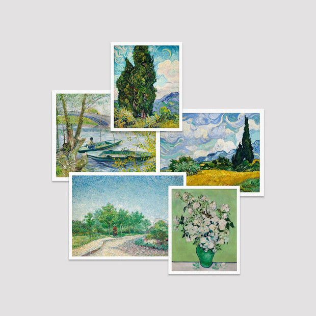 Set of 5 Print by Van Gogh
