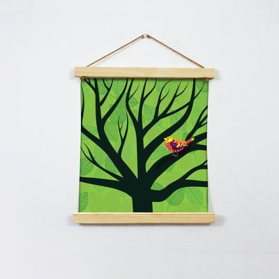 Bird In Love Painting Hanging Canvas