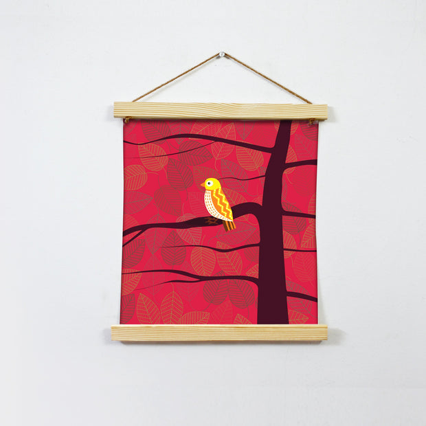 Bird In Love Painting Hanging Canvas Painting-Meri Deewar