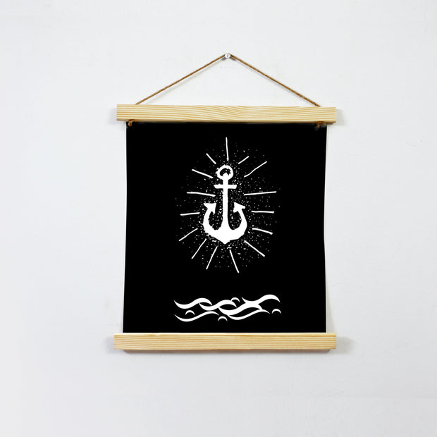 Anchor In Deep Sea Hanging Canvas