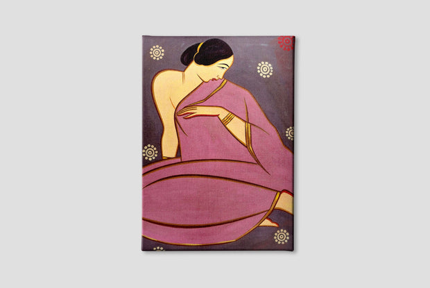 Lady in a pink sari Canvas