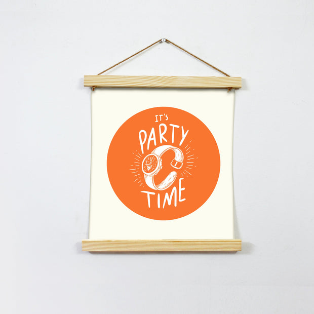 It's Party Time Hanging Canvas