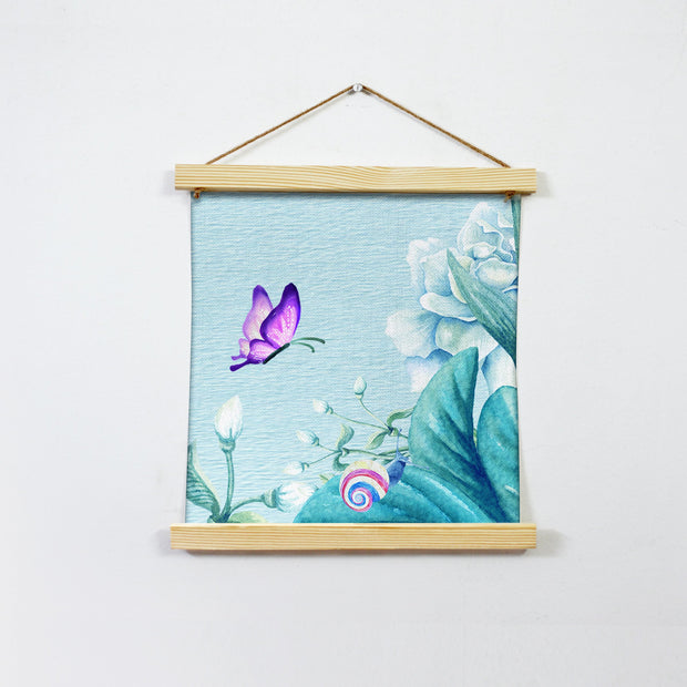 Purple Butterfly Wall Art Hanging Canvas