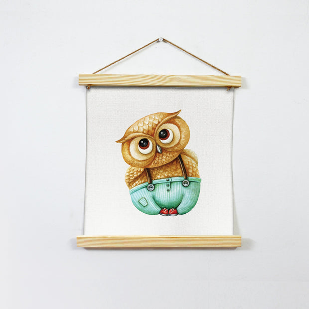 Owl Wall Art Hanging Canvas