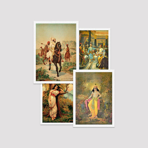 Set of 4 Print by Raja Ravi Varma