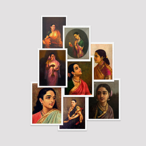Set of 8 Print by Raja Ravi Varma / S.L. HALDANKAR