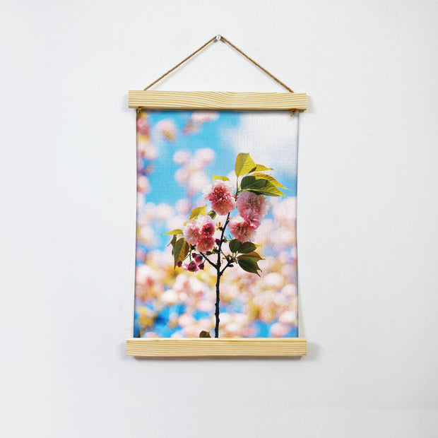 Pretty Pink Flowers Hanging Canvas