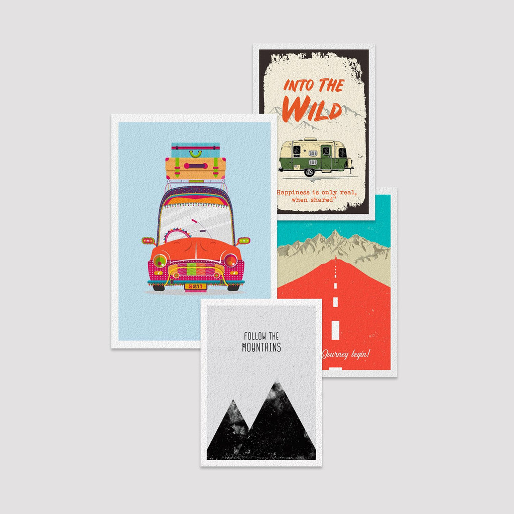 Set of  4 Print by Travel