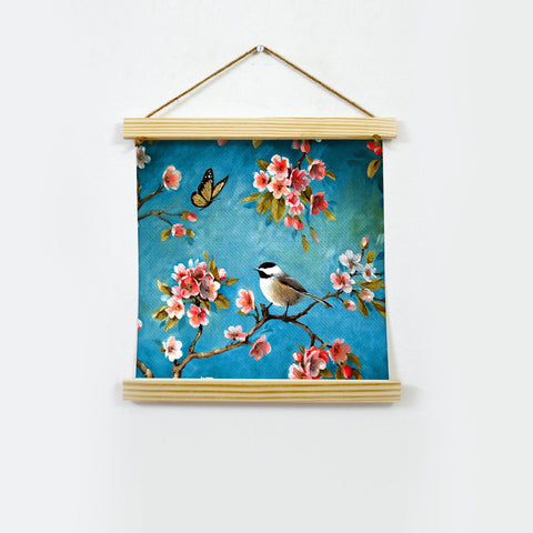 Summer butterfly and Bird Hanging Canvas