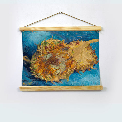Two Cut Sunflowers By Van Gogh Hanging Canvas