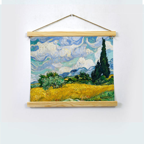 Wheat Field With Cypresses Painting By Van Gogh  Hanging Canvas