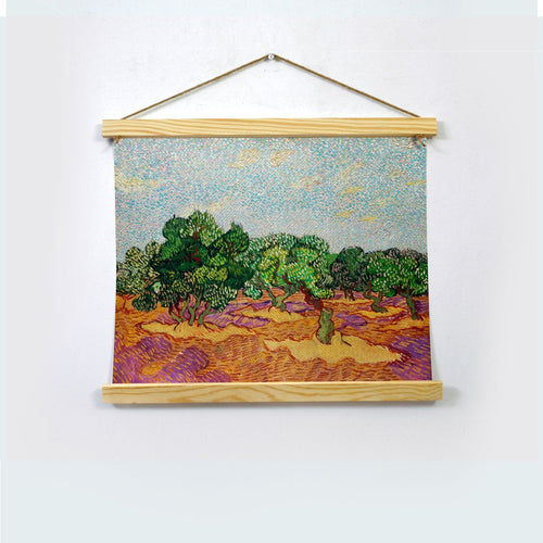 VINCENT Painting By Van Gogh Hanging Canvas