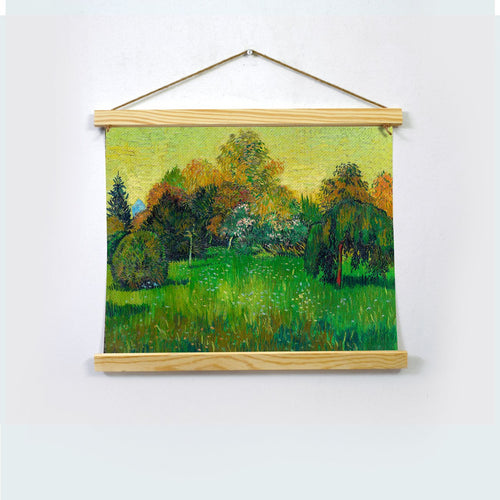 The Poet's Garden Paintingh By Van Gogh  Hanging Canvas